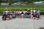 청산도 구들장논 농업유산보전 캠페인에 참여한 완도고 학생들