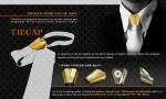 장식용 타이 캡은 메탈소재 또는 가죽형태로도 변화를 줄 수 있다.