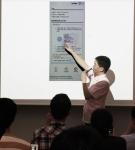 19일 진행된 세미나에서 이동산 기술이사가 페이게이트 AA 4.0 결제과정을 시연, 설명하고 있다.