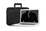 세련된 블랙컬러의 노트북 슬림가방, 비즈니스맨을 위한 슬림노트북가방