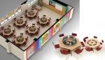 사나코 모니터 리프트 Magic eLift 가 설치된 스마트교실