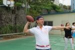 플래그풋볼 기초 기술훈련에 들어간 지도자들의 모습이다.