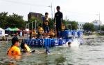 거창수상구조대의 해상·수상안전교육 프로그램이 진행되고 있는 모습이다.
