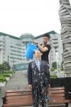 설동근 총장이 얼음물 샤워에 참여했다.