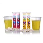 최근 건강기능식품 전문 제조회사 주식회사 힐링에서는 발포비타민 2종을 새롭게 출시하였다.