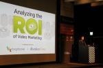 브라이트코브 기술 컨설팅 박성혁 부장이 비디오 마케팅 ROI에 대해 발표하고 있다.
