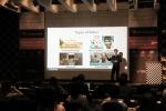 8월 26일 비디오마케팅 A to Z 세미나에서 비렉트 윤치형 대표가 효과적인 마케팅 비디오 제작법에 대해 소개하고 있다.