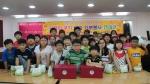 안양시 교육청 영재원 학생 30여명이 사단법인 함께하는 한숲에서 사랑의 쿠키 나누기 봉사를 진행했다.