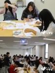 연세대학교 국제캠퍼스 학생들은 약 2시간 동안 배냇저고리 캠페인 교육과 만들기에 동참했다.