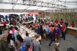 LG전자 부스가 관람객들로 인산인해를 이루고 있는 모습이다.