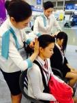 한국관광대학교 항공서비스과는 2014 제3회 대한민국 교육기부 행복박람회에서 항공사 객실승무원 체험부스를 운영했다.