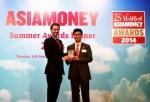 오른쪽부터 김상섭 외환은행 홍콩지점장, 리차드 머로우 Asiamoney誌 편집장 (Richard Morrow, Editor, Asiamoney)
