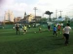 지역아동센터 아동들과 풋살 경기중인 사회복무요원들