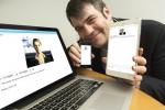 IPsoft 의 유망 기술부 부사장 에르군 에키치(Ergun Ekici)가 새로운 인식 컴퓨팅 플랫폼 '아멜리아'을 선보이고 있다.