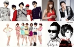 (위부터 시계방향으로) 샤이니, 홍진영, 박상철, 킹콩&미토, AOA