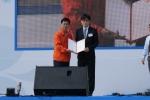 고양시장상을 수상하는 (주)엑스포마이스 이형주 대표