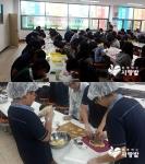지난 9월 26일 번동중학교 학생들이 전일제 봉사활동을 펼치고 있다.