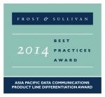 팩넷이 세계적 권위를 자랑하는 프로스트 앤 설리번(Frost & Sullivan)의 '2014 아시아 태평양 지역 데이터 통신 제품 차별화상'을 수상했다.