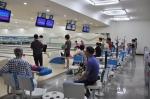 지난 9월 시설 전면 무료개방의 날에 볼링장을 이용하고 있는 모습이다.