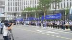 지난 7월 15일 250여명의 치과의사들이 세종시 복지부 청사 앞에서 치과전문의제도 개선을 요구하는 시위를 벌이고 있다. (사진제공: 대한치과교정학회)