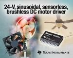 TI는 업계 최초로 24V, 정현파, 센서리스, 브러시리스 DC(BLDC) 모터 드라이버를 출시했다.