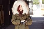 탑 모델 한혜진과 세계적인 패션 아이콘 테일러 토마시 힐이 상반된 무스탕 룩을 선보여 화제이다.