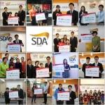 SDA삼육어학원은 9월 19일 45주년을 기념하여 장학증서 전달식을 가졌다.