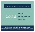 안리쓰는 ShockLine VNA 제품군으로 프로스트앤설리반이 수여하는 벡터 네트워크 분석기 분야 2014 가격대비성능비 리더십상을 수상했다.