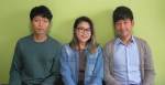 2014 캠퍼스 특허전략 유니버시아드 특허전략 수립부문에서 최고상인 한국공학한림원회장상을 받은 한국기술교육대 에너지·신소재·화학공학부 손근식, 이혜민, 서강현 학생팀(왼쪽부터)