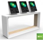 소형점포를 위해 고안된 기능간소화 미래형 셀프체크아웃(코드명:London Kiosk)-사진은 카운터형(기둥형, 벽걸이형 가능)