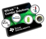 TI는 고객들이 임베디드 애플리케이션으로 Wi-Fi와 듀얼 모드 블루투스를 편리하게 추가할 수 있도록 2.4GHz 및 5GHz 대역의 Wi-Fi를 지원하는 새로운 WiLink 8 콤보 커넥티비티 모듈 제품군을 출시한다.
