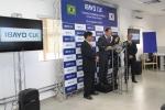 현지시간 10일 IBAYO-CLK 대회의실에서 철도차량용 에어컨 생산을 위한 공장준공식을 가졌다. (왼쪽 두번째, 강성희 오텍캐리어㈜ 대표이사가 축사를 하고 있다.)