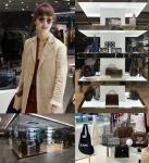 모델 겸 CEO 송경아가 신세계 본점에서 열린 퍼스트루머 입점 행사에 참석했다.