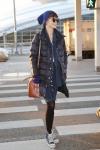 18일 오전, 모델 송경아가 인천공항을 통해 출국했다.