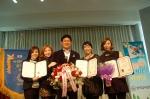 (사)국제웃음치료협회 한국강사은행 7만명 회원중 교수 위촉식 장면