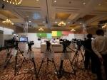 미얀마 파나소닉 엑스포의 요리 및 전문가용 카메라 전시
