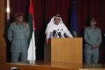 셰이크 사이프 빈 자예드 장관이 알 림 아일랜드 범죄 사건의 전모를 기자회견에서 밝히고 있다.