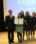 군산대학교 식품영양학과 창직팀 뉴트리스타가 지난 5일 서울무역전시관에서 개막한 2014년 청년취업아카데미 창직어워드 연말경진대회에서 은상을 수상했다.