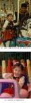 신한카드 자원봉사자와 해맑게 웃고 있는  미혼양육가정 아기