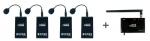 수신기 하나로 동시에 4개의 마이크를 사용할 수 있는 2.4GHz 대역의 4채널 강의용 무선마이크 탐소리 코러스