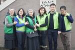 독거 어르신과 결손 소년소녀가장을 위한 봉사활동에 참가한 그린조이 임직원과 봉사자들.