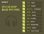 2014 GS샵 홈쇼핑 뮤직 어워드 순위 표