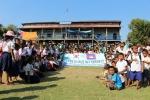 군산대 학생해외봉사단는 캄보디아 씨엠립지역에서 2주간 봉사활동을 마쳤다.