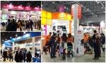 많은 관람객들이 킨텍스 맘앤베이비엑스포에서 YKBnC의 퀴니, 맥시코시, 지비 부스를 둘러보고 있다.