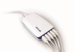 안랩이 휴대용 5포트 USB 멀티충전기를 출시했다.