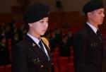군산대학교 155학군단이 24일 군산대학교 아카데미홀에서 학군사관 후보생 및 학부모, 주요 관련자 300여명이 참석한 가운데 2015 학군사관후보생 임관 전 축하행사 및 승급·입단식을 개최했다.