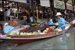 태국 방콕 담넌사두억 수상시장