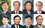 윗줄 왼쪽부터 임동석, 곽철영, 신중린, 김상환 교수, 아랫줄 왼쪽부터 박인갑, 김상규, 김수욱, 엄기일 교수