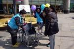 장애인식개선캠페인(수동휠체어 사용방법 안내)