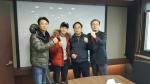 좌로부터 허닭 김주형 부사장, 허경환 대표, 솔리더스 김정현 대표, 박열균상무